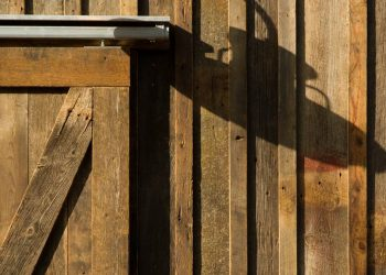 details-of-a-sliding-traditional-barn-door